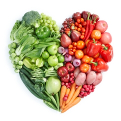green and red healthy food