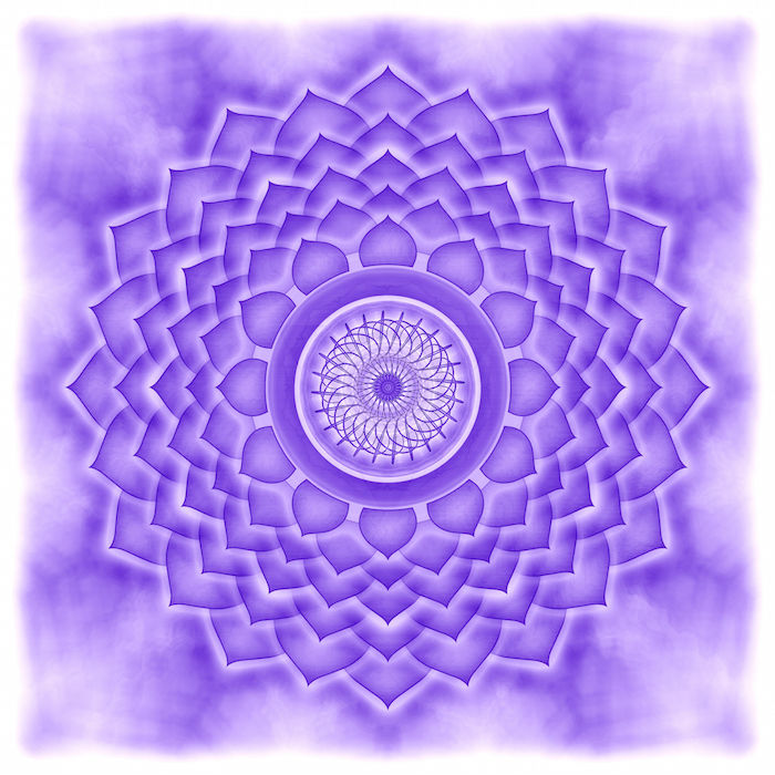 23305640 - mandala the crown chakra