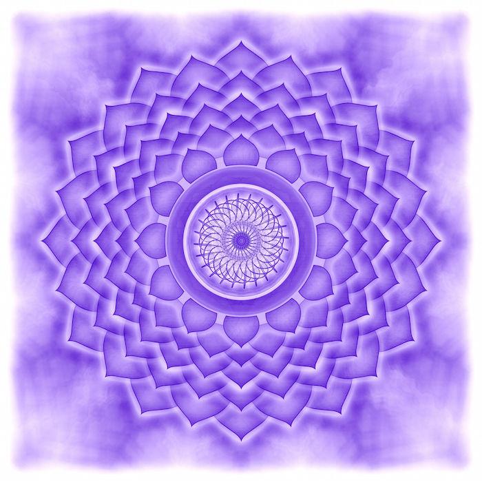 23305640 - mandala the crown chakra